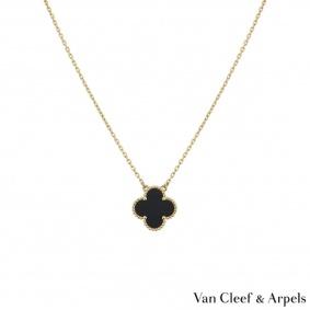 Van Cleef & Arpels Yellow Gold Vintage Alhambra Necklace VCARA45800